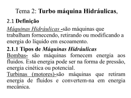 Tema 2: Turbo máquina Hidráulicas,