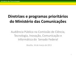 Slide 1 - Ministério das Comunicações