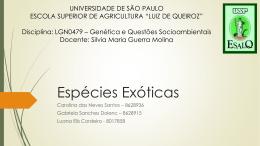 Espécies Exóticas - Moodle USP do Stoa