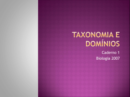 Taxonomia E DOMÍNIOS