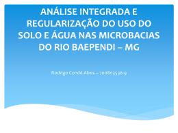 Análise integrada e regularização do uso do solo e água nas