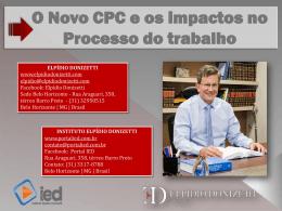 O Novo CPC e os Impactos no Processo de Trabalho