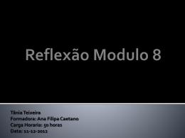 Reflexão Modulo 8.