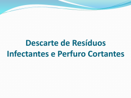 Descarte de Resíduos Infectantes e Perfurocortantes