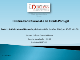 Apresentação do TEXTO 1 (Joana Coelho)