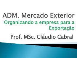 Motivos para Exportar - Universidade Castelo Branco