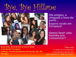 Bye Bye Hillane