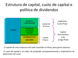 Custo de capital, estrutura de capital e política de - CRA-MA