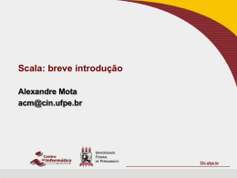 Introdução à linguagem Scala