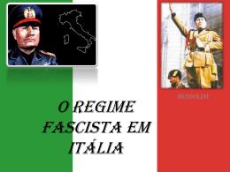 O Regime fascista em Itália
