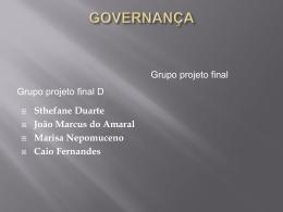 1 - O que é Governança?