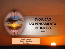 EVOLUCAO DO PENSAMENTO RELIGIOSO