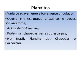 Tipos de Relevos Brasileiros