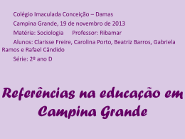 Referências na educação em Campina Grande