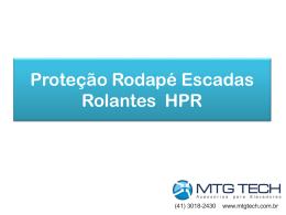 Proteção Rodapé Escadas Rolantes HPR