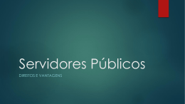 Servidores Públicos_Direitos e Vantagens