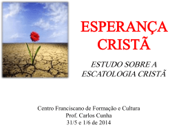 ESPERANÇA CRISTÃ - Teologia de Fronteira