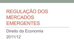 Regulação dos mercados emergentes