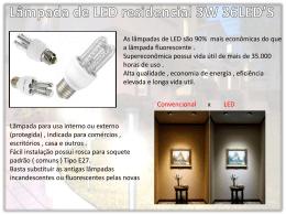 Lâmpada de LED residencial 3W 36LED`S