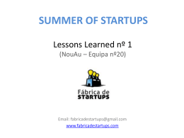 Templates da Fábrica de Startups