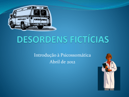 DESORDENS FICTÍCIAS