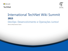 TNWiki Summit - DevOps - Technet Gallery
