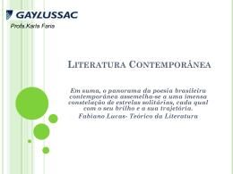 Literatura Contemporânea 2014