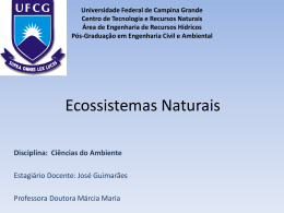 Ecossistemas Naturais - Área de Engenharia de Recursos Hídricos