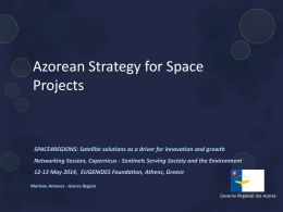 Azorean Strategy for Space Projects