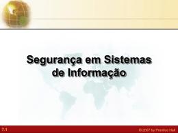 Segurança em Sistemas de Informação 7.2