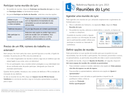 Lync Meetings Quick Reference Card