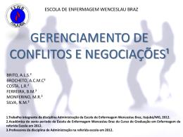 ESCOLA DE ENFERMAGEM WENCESLAU BRAS