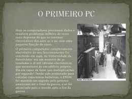O Primeiro PC