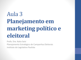 Marketing político - Assembleia Legislativa do Estado de São Paulo