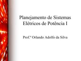Planejamento de Sistemas Elétricos de Potência I