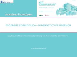 Esofagite eosinofílica * diagnóstico de urgência