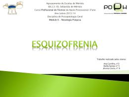 Esquizofrenia - Psicopatologia