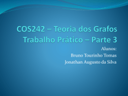 COS242 * Teoria dos Grafos 1º Trabalho Prático