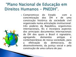 Plano Nacional de Educação em Direitos Humanos PNEDH