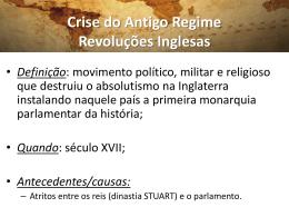 2º Aula Revoluções Inglesas - Professor