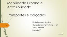 Mobilidade Urbana e Acessibilidade 1