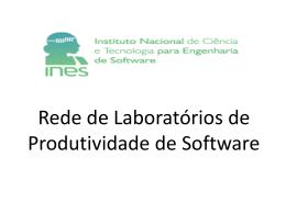 Rede de Laboratórios de Produtividade de Software