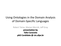 Using Ontologies in the Domain Analysis of Domain
