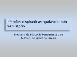 Infecções respiratórias agudas do trato