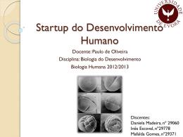Segmentação do Ovo - Biologia do Desenvolvimento 2013