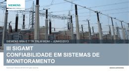SIEMENS -III SIGAMT - Confiabilidade em Monitoramento
