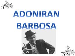 biografia adoniran Barbosa