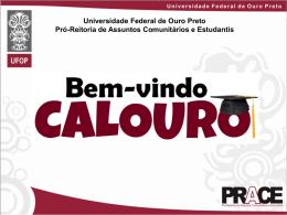 Bem vindo Calouro UFOP