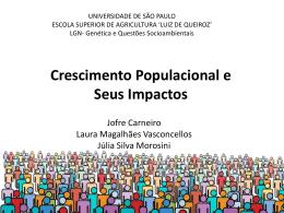 Crescimento e Impacto Populacional