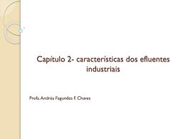 Capítulo 2- características dos efluentes industriais